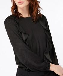 Penny black ruffle blouse