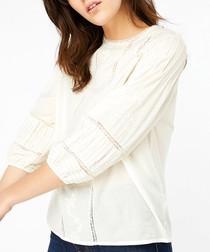 Hansigne ivory Victoriana blouse