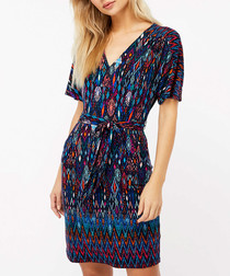 Lauren navy print tunic dress