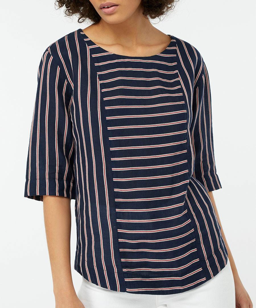 Reena linen & cotton striped T-shirt Sale - monsoon