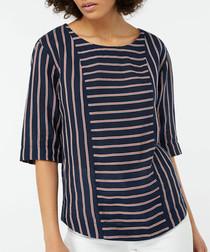 Reena linen & cotton striped T-shirt