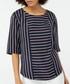 Reena linen & cotton striped T-shirt Sale - monsoon Sale
