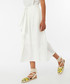 Iris white linen & cotton midi skirt Sale - monsoon Sale