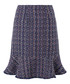 Tye navy tweed skirt Sale - monsoon Sale