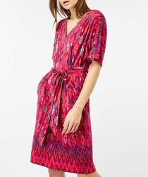 Lauren pink tie-waist tunic dress