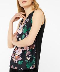 Angela floral print sleeveless blouse