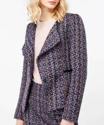 Tye navy tweed jacket