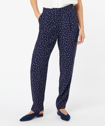 Sydney navy spotted trousers