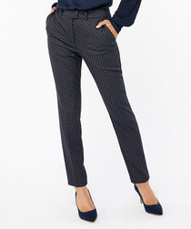 Faye navy print trousers