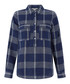 Moira navy pure linen check shirt Sale - monsoon Sale