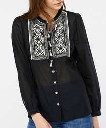Katana black embroidered blouse