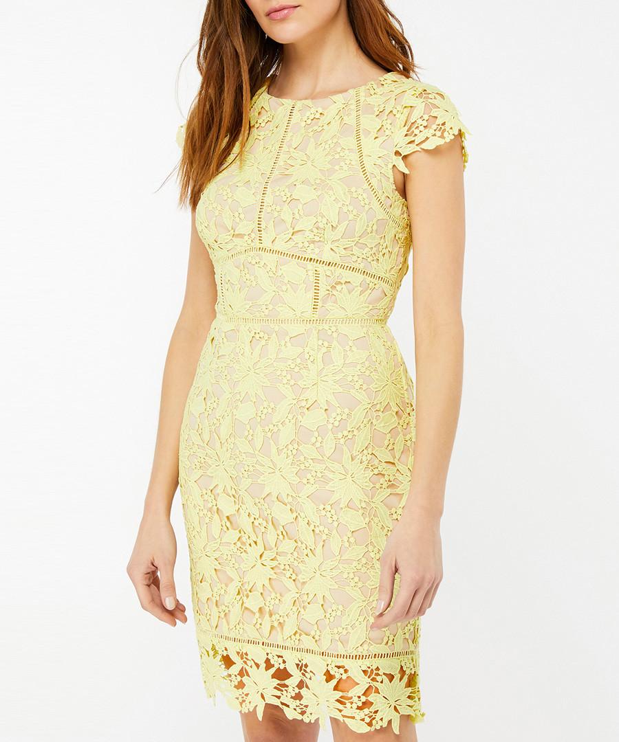 Leah lemon lace mini dress Sale - monsoon