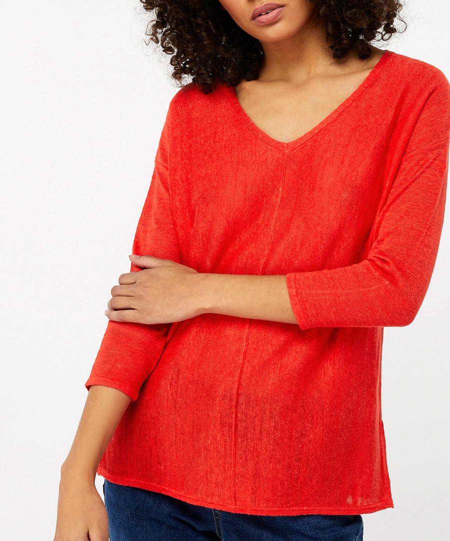 Cindy orange linen blend jumper Sale - monsoon