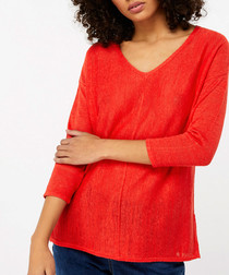 Cindy orange linen blend jumper