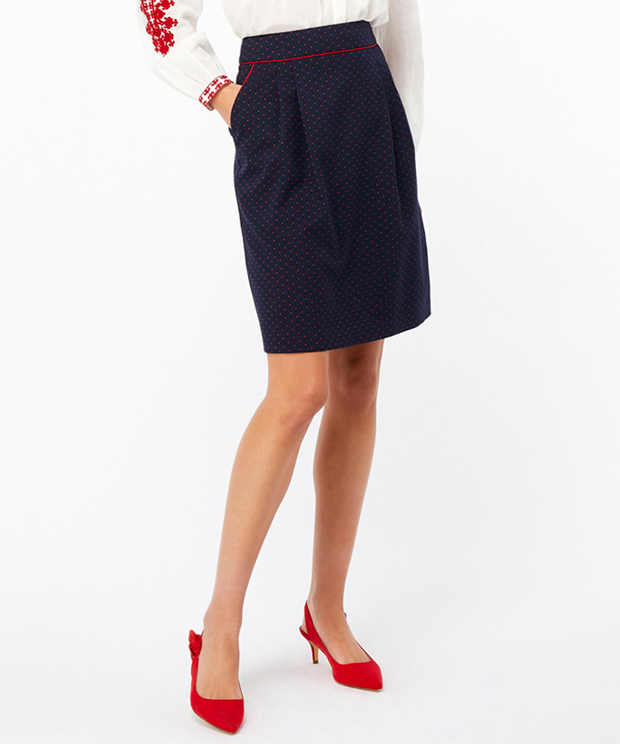 Cecile navy spotted mini skirt Sale - monsoon