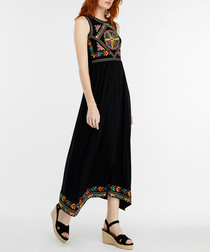 Maylin black embroidered maxi dress