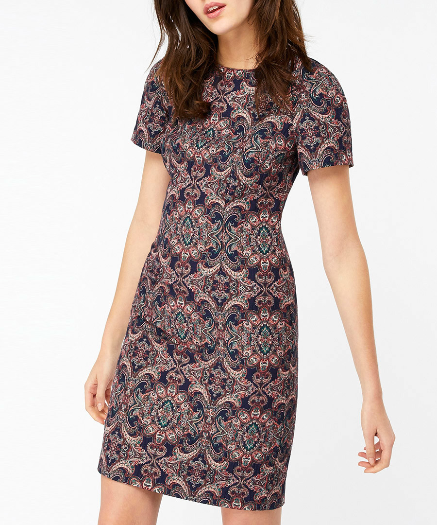 Tyla navy Jacquard mini dress Sale - monsoon