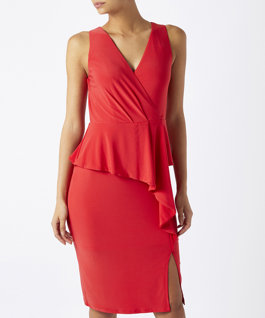 Sheila red layered jersey dress Sale - monsoon