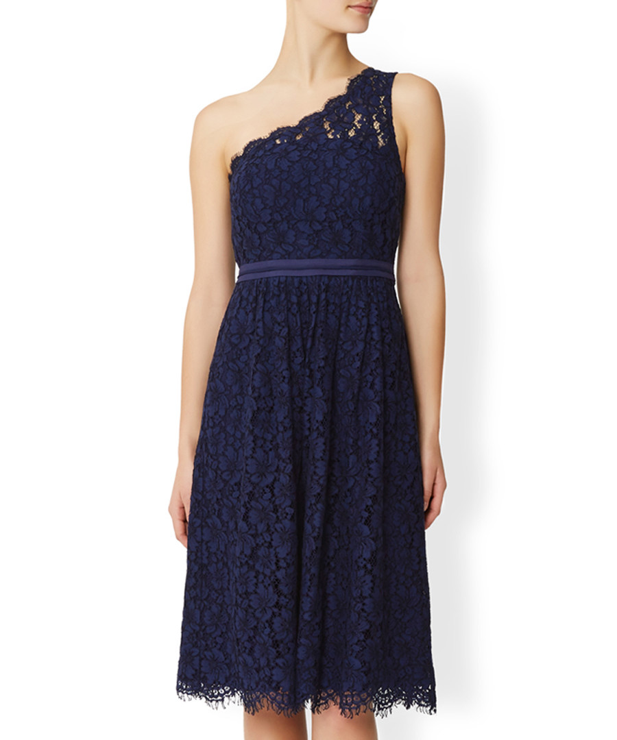 Juniper blue one-shoulder lace dress Sale - monsoon
