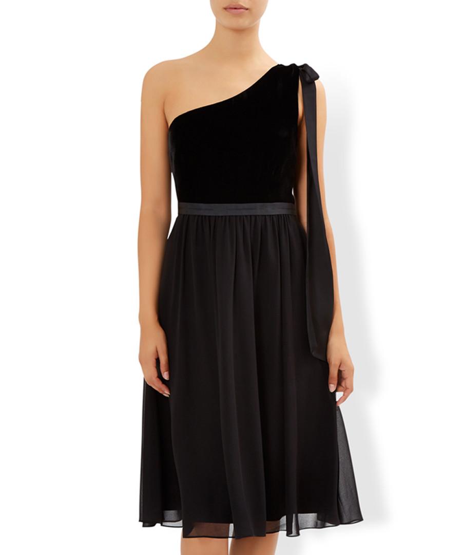 Zari black one-shoulder chiffon dress Sale - monsoon