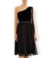 Zari black one-shoulder chiffon dress Sale - monsoon Sale