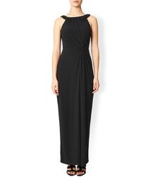 Rose black embellished maxi dress