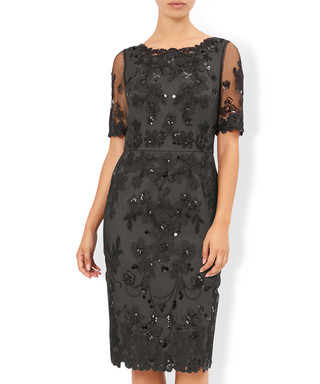 cd35919ccd7e Gretchen black sheer embellished dress Sale - monsoon Sale