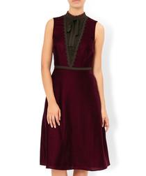 Seema burgundy sleeveless dress