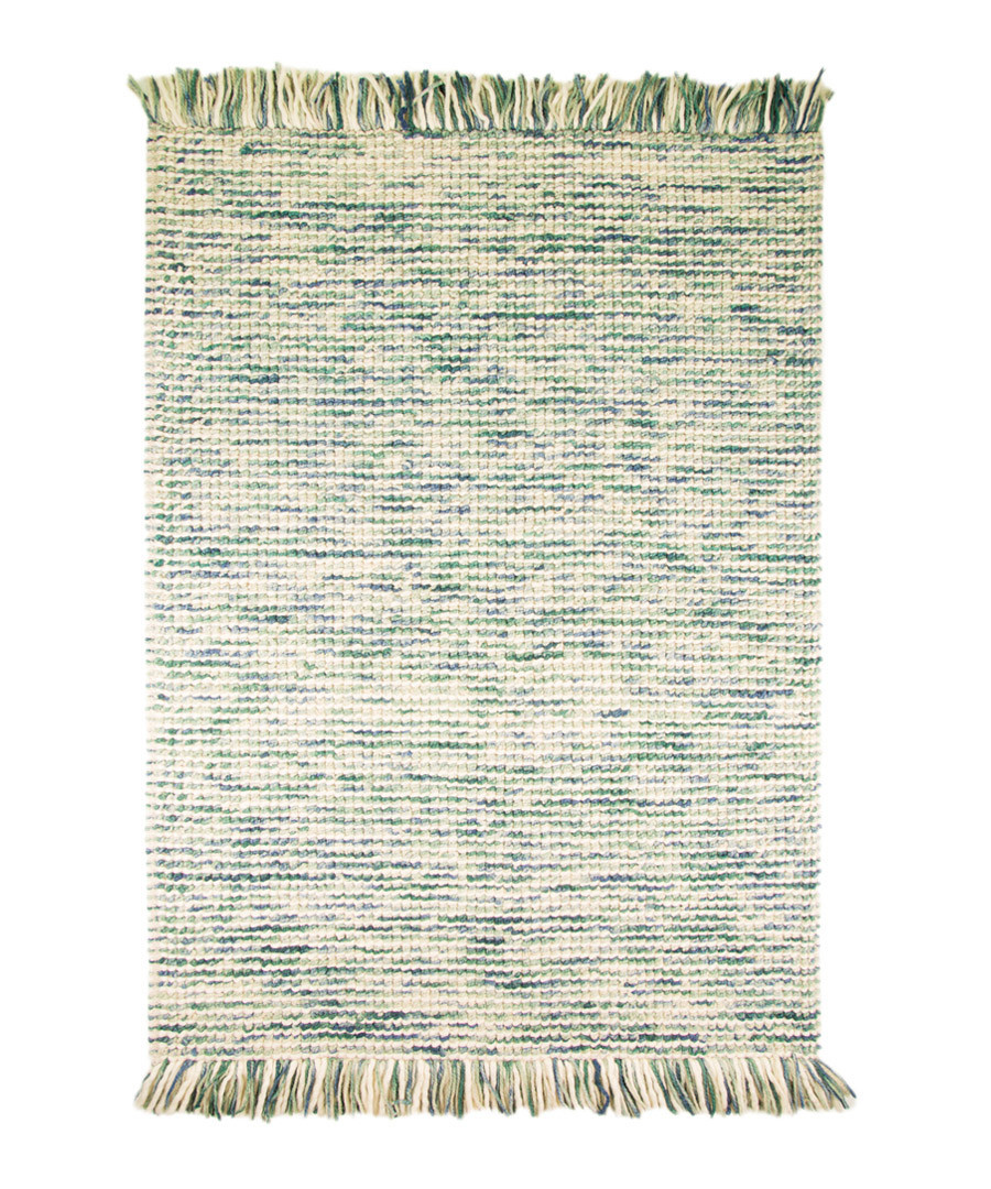 MAYA TEAL wool rug 80 X 150cm Sale - flair rugs