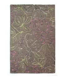 KILBURN taupe wool blend rug 120 x 170cm