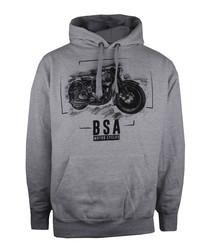 BSA grey cotton blend hoodie