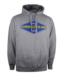 Goodyear grey cotton blend hoodie