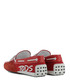 Red suede & leather brand loafers Sale - tod`s Sale