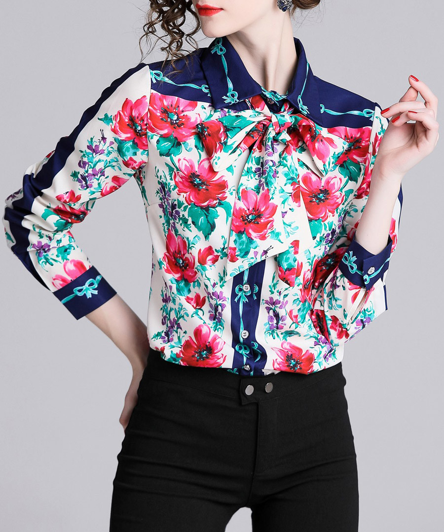 Floral print long sleeve shirt Sale - Kaimilan