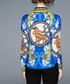 Blue & gold print long sleeve shirt Sale - Kaimilan Sale