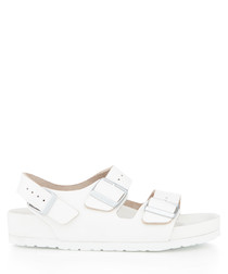 Milano white leather sandals
