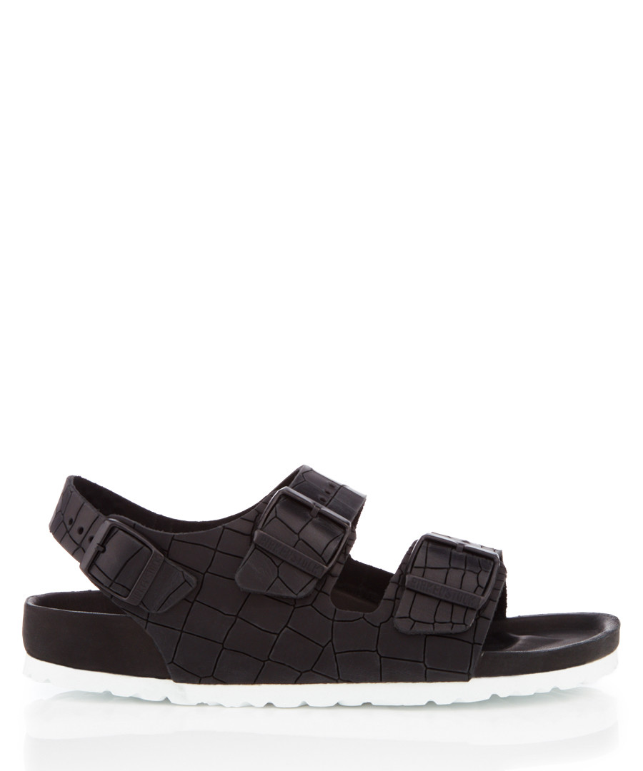 Milano black leather moc-croc sandals Sale - birkenstock