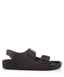 Milano black leather sandals