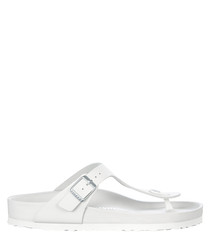 Gizeh white thong sandals