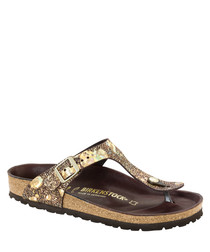 Gizeh Spotted Metallic thong sandals