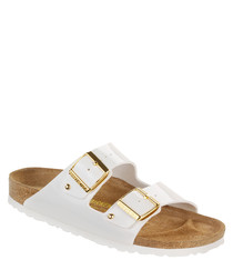 Arizona white stud sandals