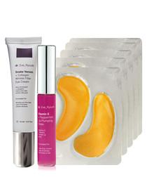 Eye pads, lip plumps & eye cream set