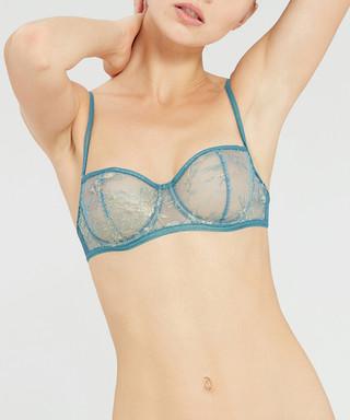 0559057bf7517 Lara teal sheer underwire bra Sale - vanity fair Sale