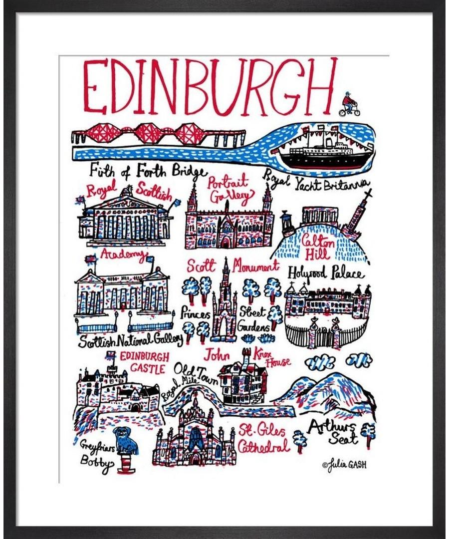 Edinburgh  Cityscape by Julia Gash Sale - Julia Gash