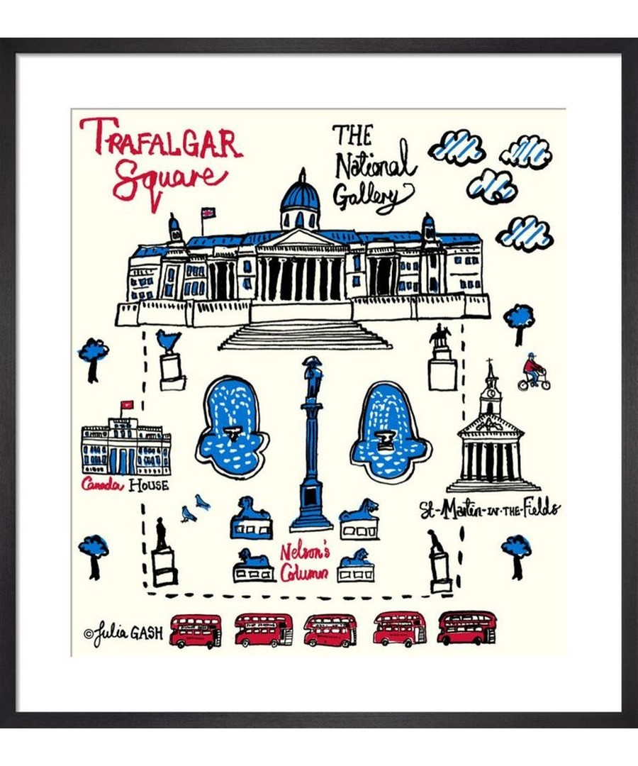 London – Trafalgar Square Cityscape by Julia Gash Sale - Julia Gash