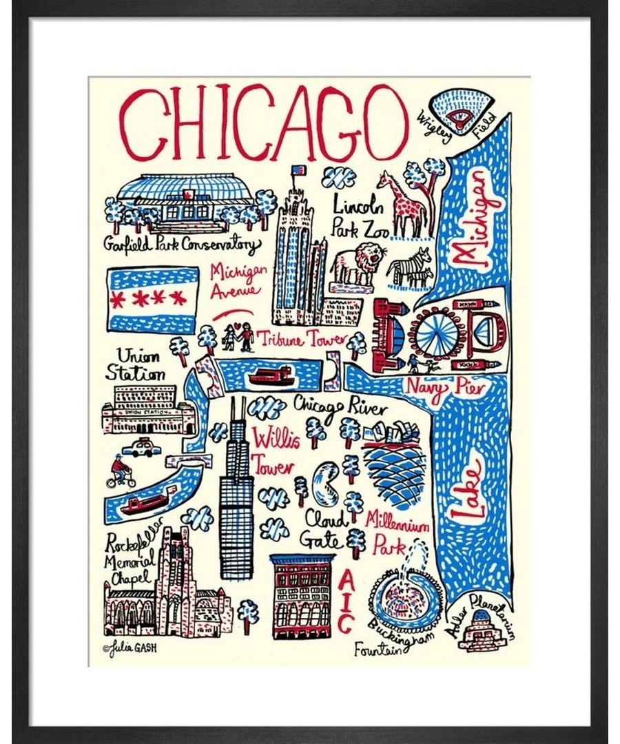 Chicago Cityscape by Julia Gash Sale - Julia Gash