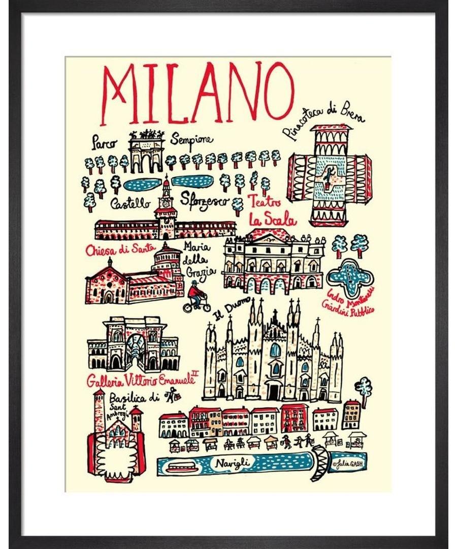 Milan Cityscape by Julia Gash Sale - Julia Gash