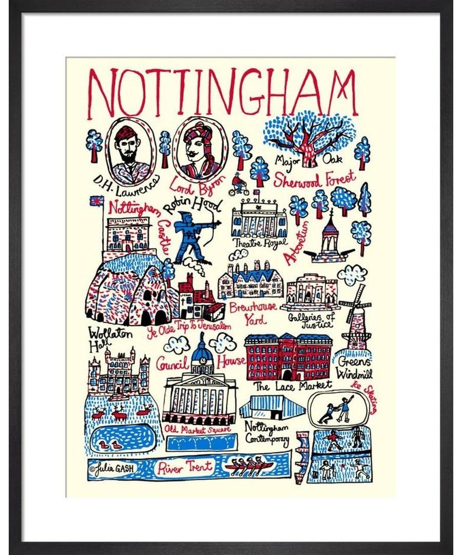 Nottingham Cityscape by Julia Gash Sale - Julia Gash