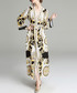 White & black classical wrap maxi dress Sale - yyfs Sale
