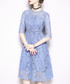 Blue lace overlay midi dress Sale - kaimilan Sale
